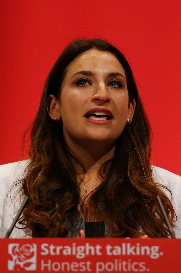 Shadow minister for Mental Health Luciana Berger delivers her speech on the final day of the Labour Party annual conference at the Brighton Centre in Brighton, Sussex.